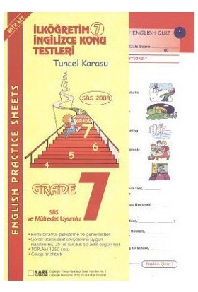 Sbs 2008 İlköğretim 7 İngilizce Konu Testleri-Tuncel Karasu