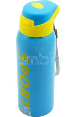 Flask Çelik Renkli Soğuk İçecek Termosu Mavi 350 ML