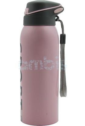 Flask Çelik Renkli Soğuk İçecek Termosu Pembe 350 ML