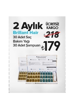 Brillant Hair Keratinli Doğal Saç Uzatma Bakım Serumu 2 Aylık Set