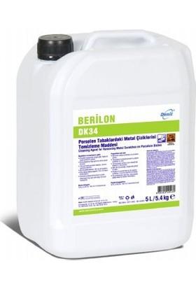 Berilon Dk34 Porselen Tabaklardaki Metal Çiziklerini Temizleme Maddesi 5 lt