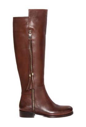 Tarçın Hakiki Deri Ceviz Günlük Kadın Topuklu Çizme Trc101-2112