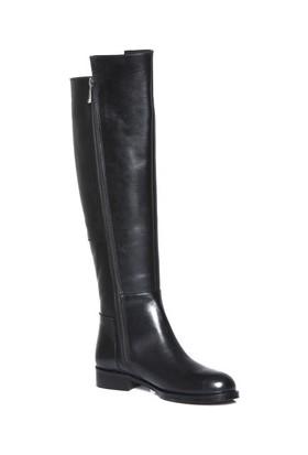 Tarçın Hakiki Deri Siyah Günlük Kadın Topuklu Çizme Trc101-2112