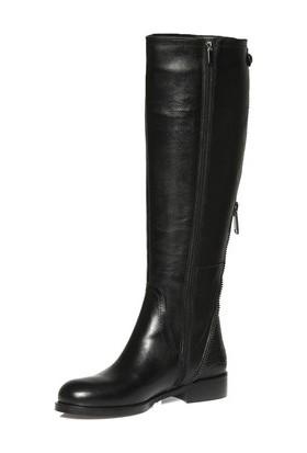 Tarçın Hakiki Deri Siyah Günlük Kadın Topuklu Çizme Trc101-2118