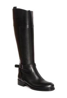 Tarçın Hakiki Deri Siyah Günlük Kadın Topuklu Çizme Trc101-2129