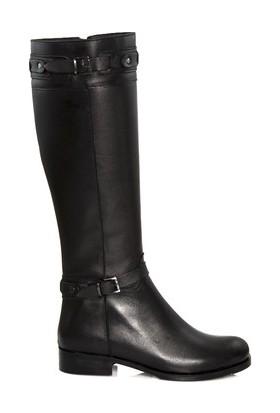 Tarçın Hakiki Deri Siyah Günlük Kadın Topuklu Çizme Trc102-2014