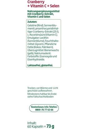 Altapharma Kızılcık + C Vitamini + Selenyum 60 Kapsül