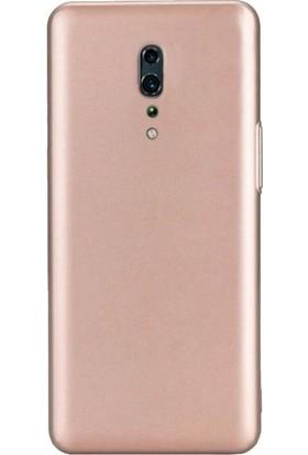Teleplus Oppo Reno Z Kılıf Mat Silikon + Nano Ekran Koruyucu Rose Gold
