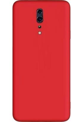 Teleplus Oppo Reno Z Kılıf Mat Silikon + Nano Ekran Koruyucu Kırmızı