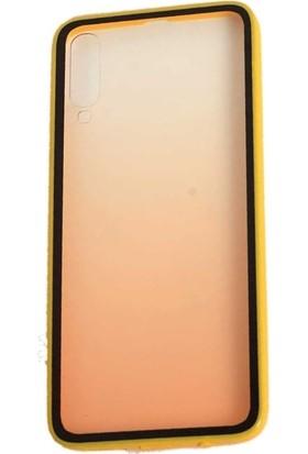 Teleplus Samsung Galaxy A50 Kılıf Estel Candy Silikon + Nano Ekran Koruyucu Gold