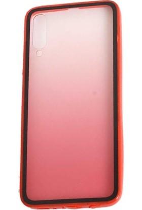 Teleplus Samsung Galaxy A50 Kılıf Estel Candy Silikon + Nano Ekran Koruyucu Kırmızı