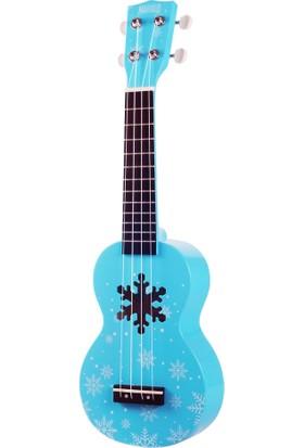 Mahalo Snow Soprano Ukulele (Glacier Blue)