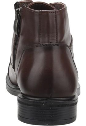 Pierre Cardin 120156 Günlük Deri Erkek Klasik Bot Ayakkabı Kahverengi