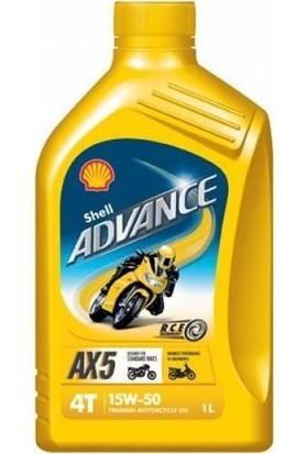Shell Advance Ax5 4T 15W-50 1 lt Motor Yağı