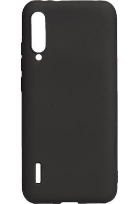 KNY Xiaomi Mi A3 Kılıf Ultra İnce Mat Silikon Siyah + Cam Ekran Koruyucu