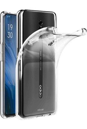 KNY OPPO Reno Z Kılıf Ultra İnce Şeffaf Silikon + Cam Ekran Koruyucu