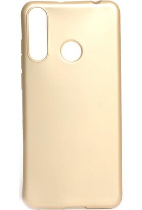 KNY Casper Via F3 Kılıf Ultra İnce Mat Silikon Gold + Nano Cam Ekran Koruyucu