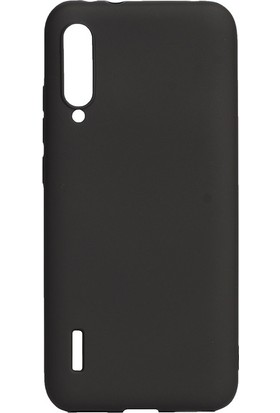 KNY Xiaomi Mi A3 Kılıf Ultra İnce Mat Silikon Siyah + Nano Cam Ekran Koruyucu