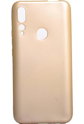 KNY Huawei P Smart Z Kılıf Ultra İnce Mat Silikon Gold + Nano Cam Ekran Koruyucu