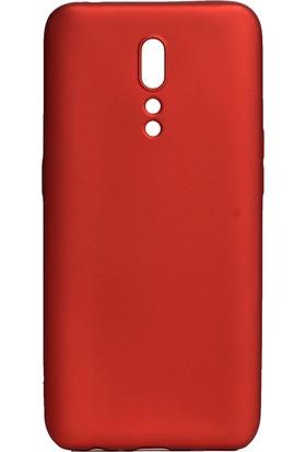 KNY OPPO Reno Z Kılıf Ultra İnce Mat Silikon Kırmızı + Nano Cam Ekran Koruyucu