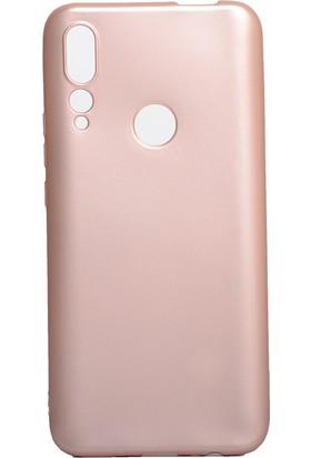 HappyShop Huawei P Smart Z Kılıf Ultra İnce Mat Silikon Rose Gold + Cam Ekran Koruyucu