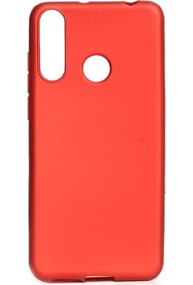 HappyShop Casper Via F3 Kılıf Ultra İnce Mat Silikon Kırmızı + Nano Cam Ekran Koruyucu