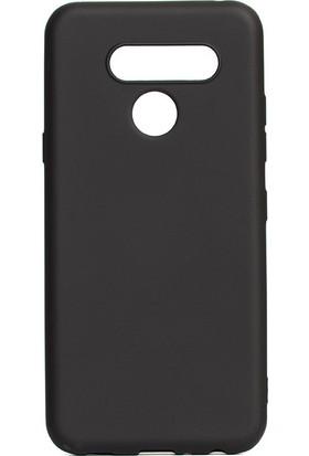 HappyShop LG Q60 Kılıf Ultra İnce Mat Silikon Siyah + Nano Cam Ekran Koruyucu