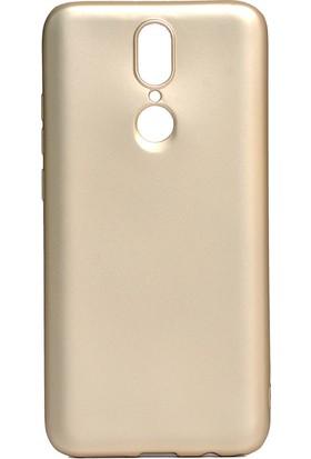 HappyShop Vestel Venus V7 Kılıf Ultra İnce Mat Silikon Gold + Nano Cam Ekran Koruyucu