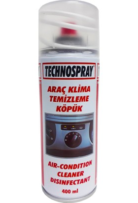 Technospray Araç Klima Temizleme Köpüğü - 400 ml