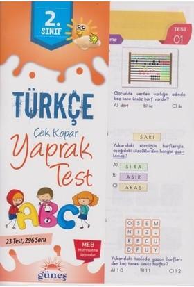 Güneş 2. Sınıf Türkçe Çek Kopar Yaprak Test-Yeni