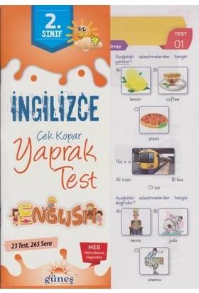 Güneş 2. Sınıf İngilizce Çek Kopar Yaprak Test-Yeni