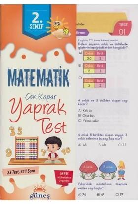 Güneş 2. Sınıf Matematik Çek Kopar Yaprak Test-Yeni