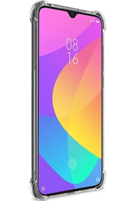 Ally Xiaomi Mi CC9 Anti-Drop Darbe Emici Silikon Kılıf AL-31023 Şeffaf