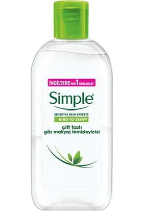 Simple Çift Fazlı Göz Makyaj Temizleyici 125 ml