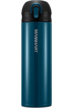 Mannhart by Spigen B203 Hafif ve Ince Sızdırmaz Çift Kilit Mekanizmalı Çift Katmanlı Travel Mug Termos 500 ml Hot 8h / Cold 24h Green - 000HP26046