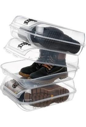 Meleni Home Bot Çizme Ayakkabı Saklama Kutusu 2'li Set