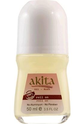 Akita % 100 Doğal Alkolsüz Roll-On Deodorant Gül ve Lavanta Set