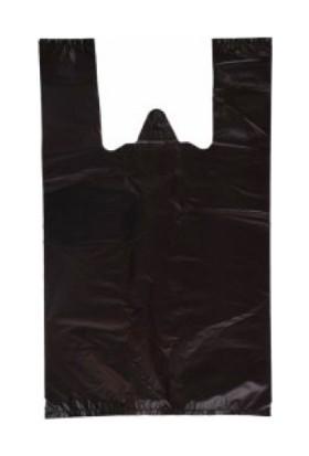 İhtiyaçlimanı Siyah Atlet Poşet Büyük Boy 10kg Ekstra Dayanıklı Kalın 30X55 cm+Çöp Poşeti