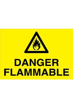 Canis Etiket Danger Flammable Pvc-Leksan