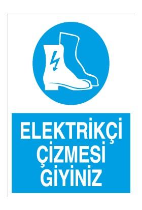 Canis Etiket Elektrikçi Çizmesi Giyiniz Pvc-Leksan