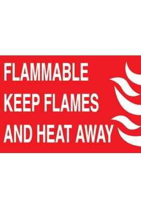 Canis Etiket Flammable Keep Flames And Heat Away Dekota