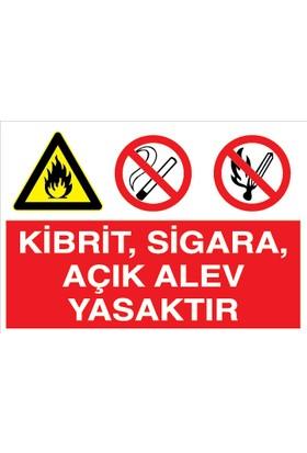 Canis Etiket Kibrit, Sigara, Açık Alev Yasaktır Alüminyum