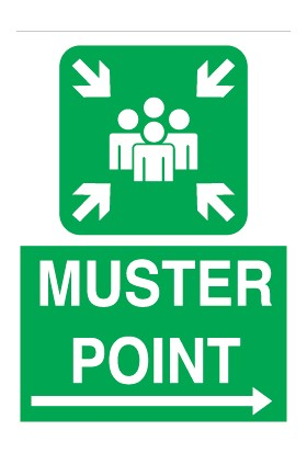 Canis Etiket Muster Point Right Direction Pvc-Leksan