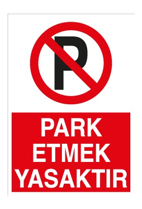 Canis Etiket Park Etmek Yasaktır Alüminyum