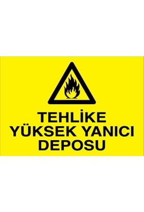 Canis Etiket Tehlike Yüksek Yanıcı Deposu Dekota