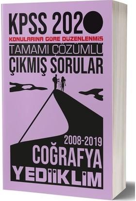 Yediiklim Yayınları 2020 KPSS Genel Kültür Coğrafya Tamamı Çözümlü Konularına Göre Çıkmış Sorular