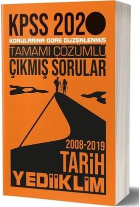 Yediiklim Yayınları 2020 KPSS Genel Kültür Tarih Tamamı Çözümlü Konularına Göre Çıkmış Sorular