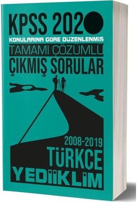 Yediiklim Yayınları 2020 Kpss Genel Yetenek Türkçe Tamamı Çözümlü Konularına Göre Çıkmış Sorular