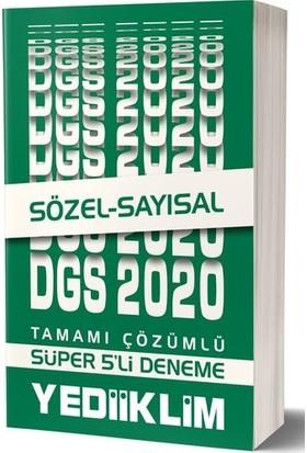 Yediiklim Yayınları 2020 Dgs Sayısal Sözel Tamamı Çözümlü Süper 5 Li Deneme