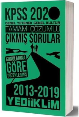 Yediiklim Yayınları 2020 KPSS Genel Kültür Genel Yetenek Tamamı Çözümlü Konularına Göre Çıkmış Sorular